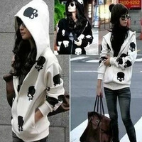 Casual Skulls Women's Hooded Cardigan Sweater Women's Zipper Jackets 2 Colors Same Day Shipping(size XL is available for both colors ) = 1920115076
