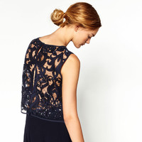 CROPPED SEQUINNED TOP - NEW IN-WOMAN | ZARA United States