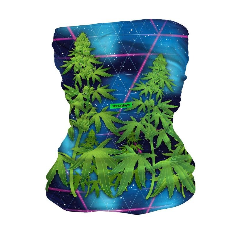 Image of Trippy Trees in Space Neck Gaiter