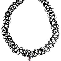 Crescent Moon Tattoo Choker
