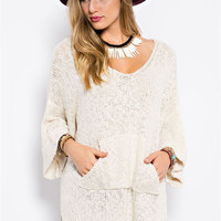 Steamy Slouch Pullover Sweater