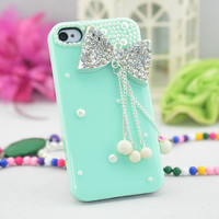 iPhone 4 Case  Luxury bow iPhone case  by blingblingcellphone