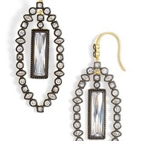 Women's Freida Rothman 'Metropolitan' Marquise Drop Earrings - Gunmetal/ Clear
