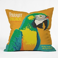 Anderson Design Group Parrot Palace Throw Pillow