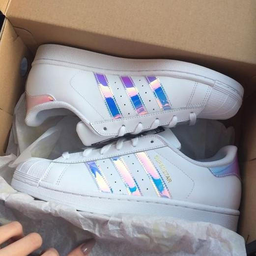 """Image of Trendsetter """"Adidas"""" Women Fashion Reflective Flats Sneakers Sport Shoes"""