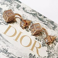 Dior Fashion new letter diamond long earring women accessory Golden