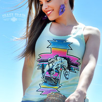Crazy Train Serape War Paint Rodeo Tank Top