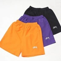 Stussy Small standard grass letter logo embroidery simple casual sports breathable shorts Three Color