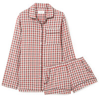 Three J NYC - Josephine checked cotton-flannel pajama set