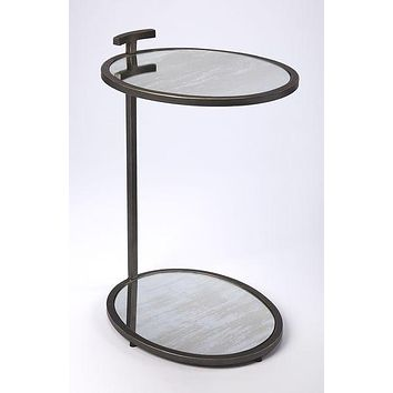 Butler Ciro Black Metal & Mirror Side Table