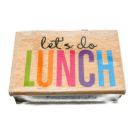 Lets Do Lunch Rubber Stamp
