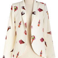 80s Mid-length Long Sleeve Mind Your Cone Business Blazer