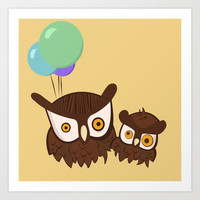 Two Owls Art Print by TwO Owls