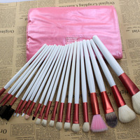 20Pcs Pink Wool Makeup Brush Sets [9647073935]