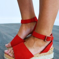 Feel A Connection Wedges: Red