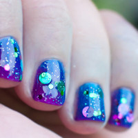 In a Roundabout Way. Full Size Indie Circle Dot Glitter Non Toxic nail polish by Glitter Guilty
