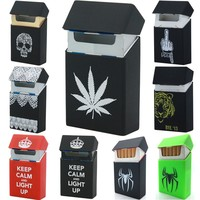 New Fashion Silicone Cigarette Box Lady Cigarette Case Cover Smoking Accessories 20 Cigarettes Box Cigarette Holder Tobacco Box