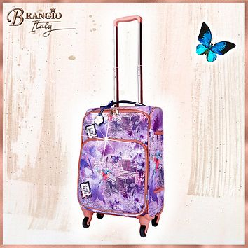Vintage Darling Classic Travel Luggage for Women With Spinners