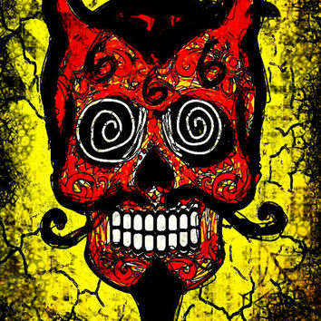 Red Devil, stretched canvas print