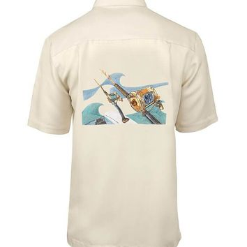 Men's Rods & Reels Embroidered Fishing Shirt