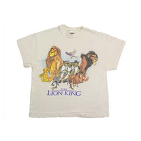 90s THE LION KING tshirt  simba shirt mufasa disney movie tee Scar timon Pumbaa rafiki nala zazu Africa 1990s Vintage Womens Large