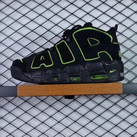 NIKE WOMEN'S AIR MORE UPTEMPO BLACK GREEN