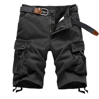 Mens Loose Cotton Shorts with Pockets