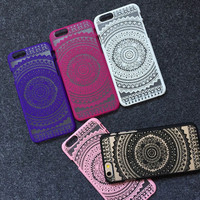 Henna Floral Paisley Mandala Palace Flower Phone Case Cover For iPhone SE 5 5S 6 6S 6Plus Hard Cases
