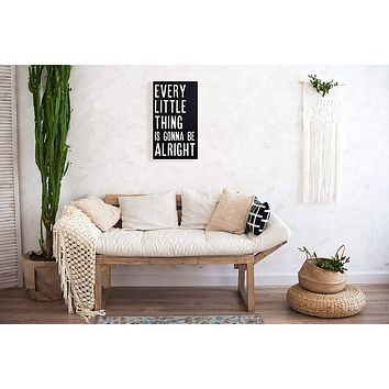Every Little Thing is Gonna Be Alright Wood Wall Art - Black - 27-1/2-in