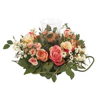Rose Candelabrum Silk Flower Arrangement