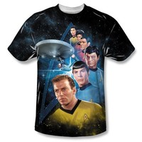 Star Trek Characters Among the Stars Adult Sublimated T-Shirt