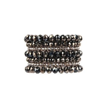 HDB2750 - SEVEN LINES GLASS BEADS STRETCH BRACELET
