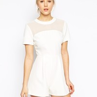 ASOS Romper with Sheer Panel