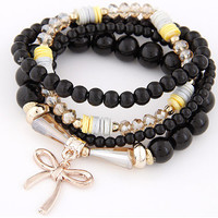 Butterfly bracelet for women Candy Color Multi Bead Charm Bracelets  Fashion Jewelry Pulseiras Feminina Accessory Bracelete