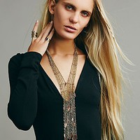 Free People Womens Raindrops Necklace