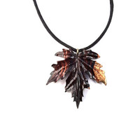 Wood Jewelry, Wooden Leaf Pendant, Carved Wood Necklace, Wood Leaf Necklace, Exotic Wood Jewelry, Wood Carved Pendant, Wooden Pendant Leaf