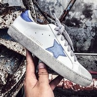 Quality Korean Distressed Sneakers Women Vintage Zapatillas Mujer Glitter Star Zapatillas Lace-Up Do Old Dirty Shoes Size 35-40