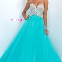 Strapless Sweetheart Long Ball Gown by Blush
