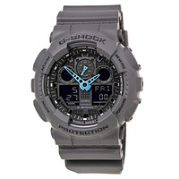 Casio G-Shock Mens Analog Digital - Light Blue Hands - Dark Gray Case & Strap