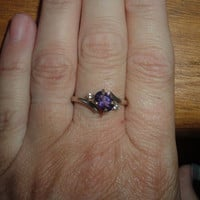 Deep Purple Amethyst Sterling Silver Ring
