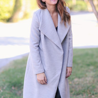 Stack the Deck  Coat - Grey