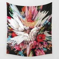 Floral Glitch II Wall Tapestry by Kate Tova