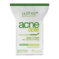 Alba Botanica Natural Acnedote Clean Treat Towel - 30 Pack