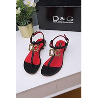DG  Popular Summer Women's Flats Men Slipper  Sandals Shoes