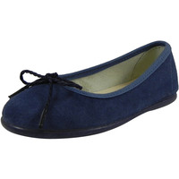 Chuches 97 Girl's Navy Soft Suede Leather Bow Ballet Flat Shoes