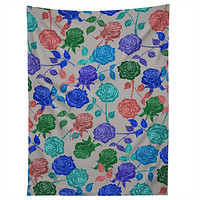 Bianca Green Roses Blue Tapestry