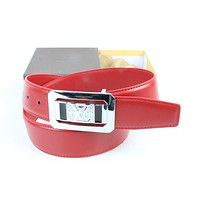 Louis Vuitton Woman Men Fashion Smooth Buckle Belt Leather Belt Skin Belts LV Beltt299