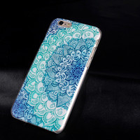 2017 New Luxury Painted Blue Floral Design Case for Apple iPhone5 5s 5g