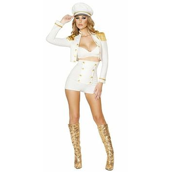 Sexy Pin Up High Rise Sailor Girl Halloween Costume