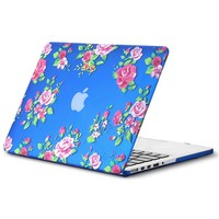 "Kuzy - Retina 13-inch Vintage Flowers BLUE Rubberized Hard Case for MacBook Pro 13.3"" with Retina Display A1502 / A1425 (NEWEST VERSION) Shell Cover - Vintage Flowers Blue"